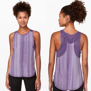 Lululemon Running Sculpt Tank Purple Tie Dye UV 6